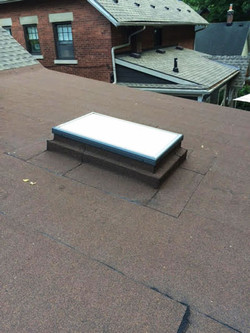 Velux skylight on flat roof
