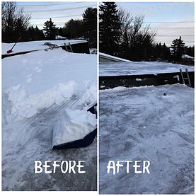 rooftop snow removal before and after