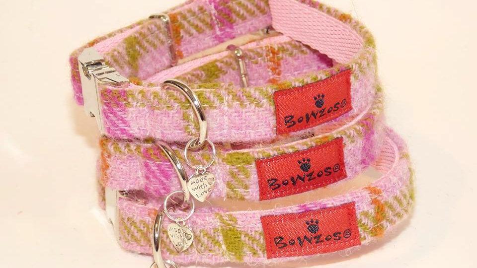 Tartan Collar - Pretty Baby Pink