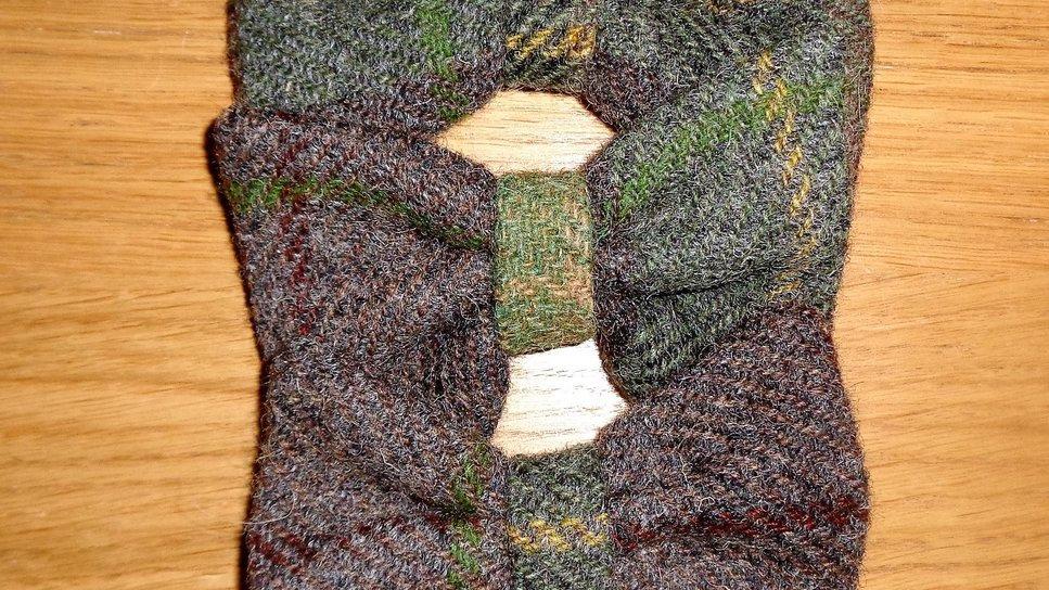 Tartan Bow Tie -  Chestnut Brown
