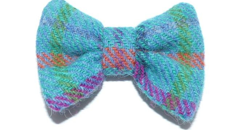 Tartan Bow Tie - Azure - Turquoise