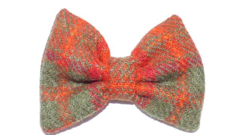Tartan Bow Tie - Burnt Orange
