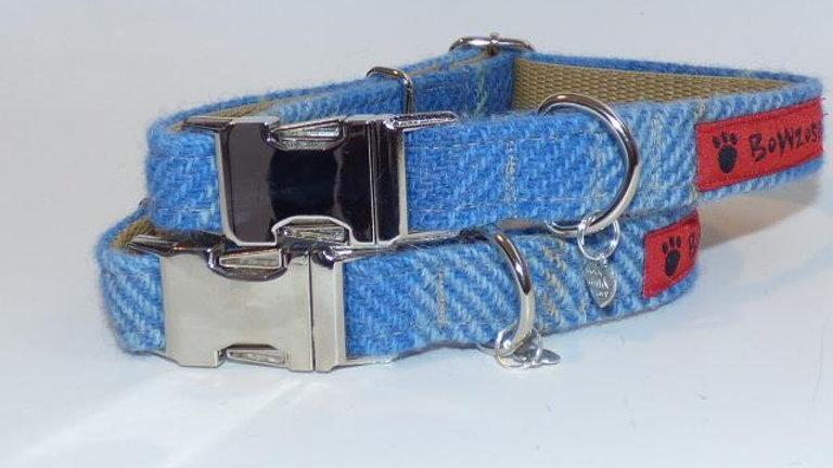 Tartan Collar - Baby Blue