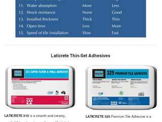 Are your tiles sounding hollow, breaking or coming loose ? Laticrete Tile Adhesives are the solution