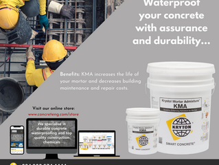 Waterproof your concrete with assurance and durability...