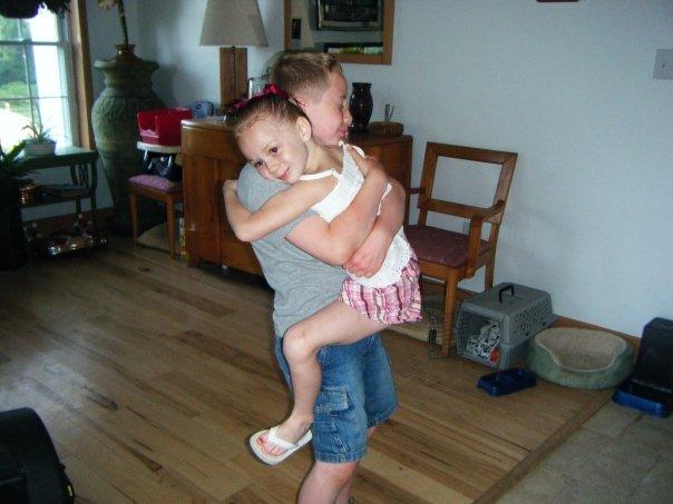 Gavin and his sister.