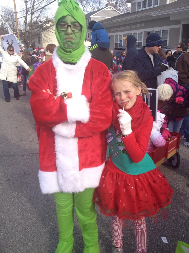 He makes a wonderful Grinch!