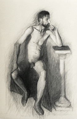 Kolin seated nude