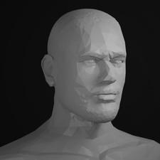 Neymar Portrait Sculpt LowPoly