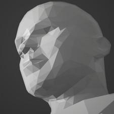 K. Mbappe Portrait Sculpt LowPoly
