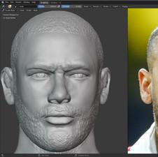 Neymar Portrait Sculpt