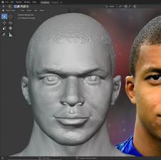 K. Mbappe Portrait Sculpt
