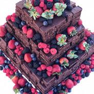 Brownie Wedding Cake _#saturdayweddings_