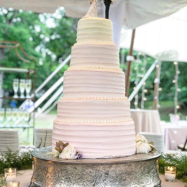 Vanilla and Chocolate Wedding Cake.  Thi