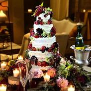 Red Velvet Semi-Naked Wedding Cake.  Tha