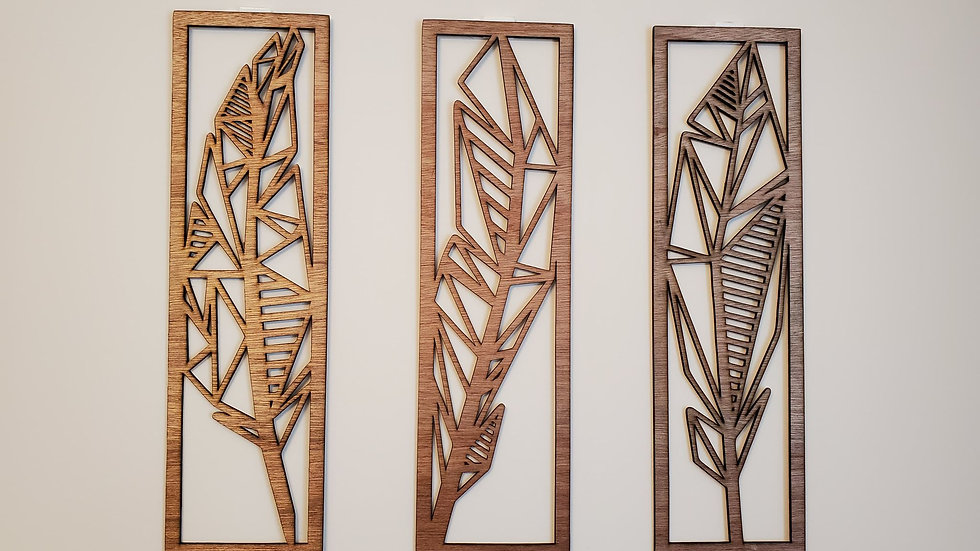 Art Deco Feather Wall Panels