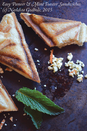 Easy Paneer & Mint Toaster Sandwiches