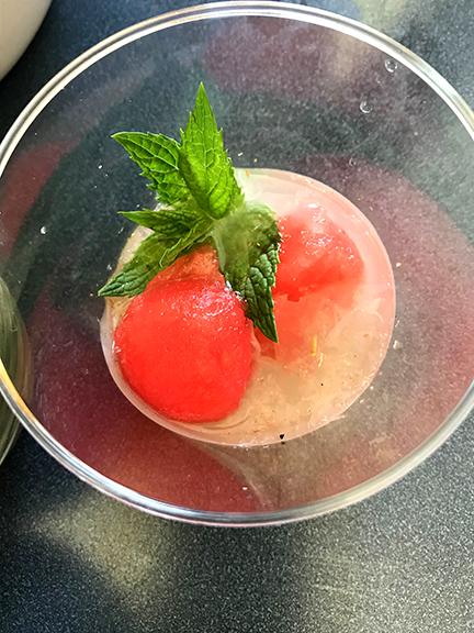 Spicy lemonade with watermelon