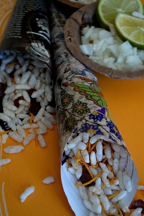 Chatpata Nuts with Puffed Rice