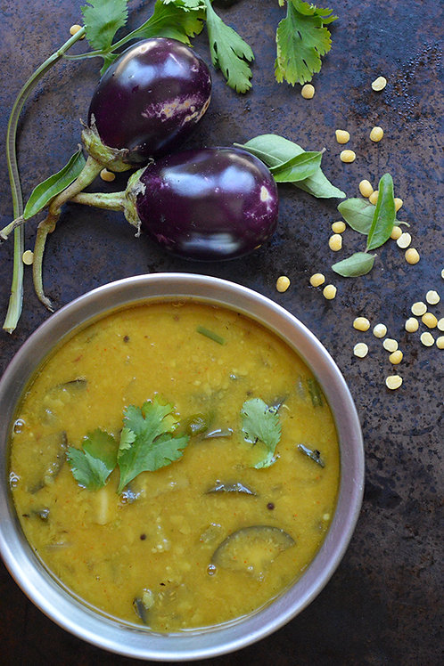 Eggplant Sambaar