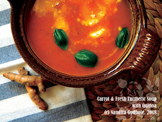 Recipe: Carrot & Fresh Turmeric Soup With Quinoa