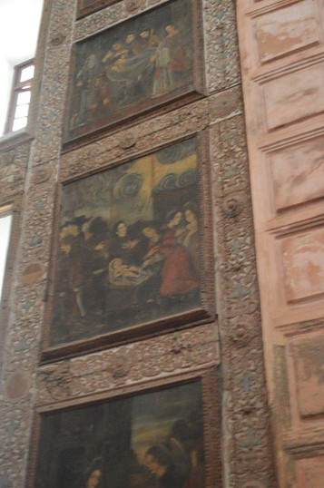 Old painting, Basilica of Bom Jesus