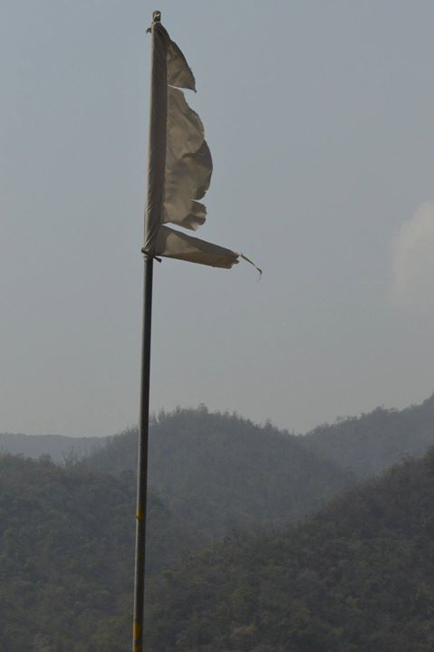 A flag at Rishikesh