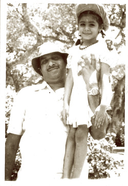 My father and I, c. 1977
