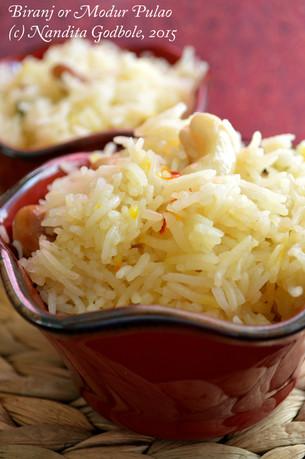 Modur Polav or Sweet Rice