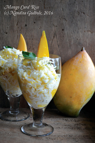 Recipe: Summer Special ~ Cold Curd* Rice, with Mango