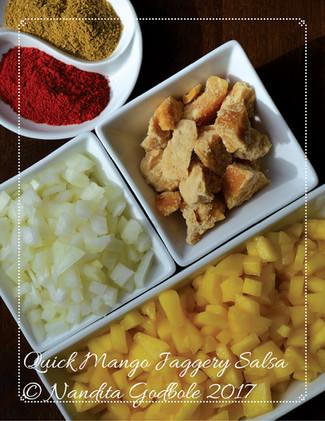 Quick Mango Jaggery Salsa