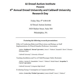 4th Annual Drexel University/Caldwell University Research Day