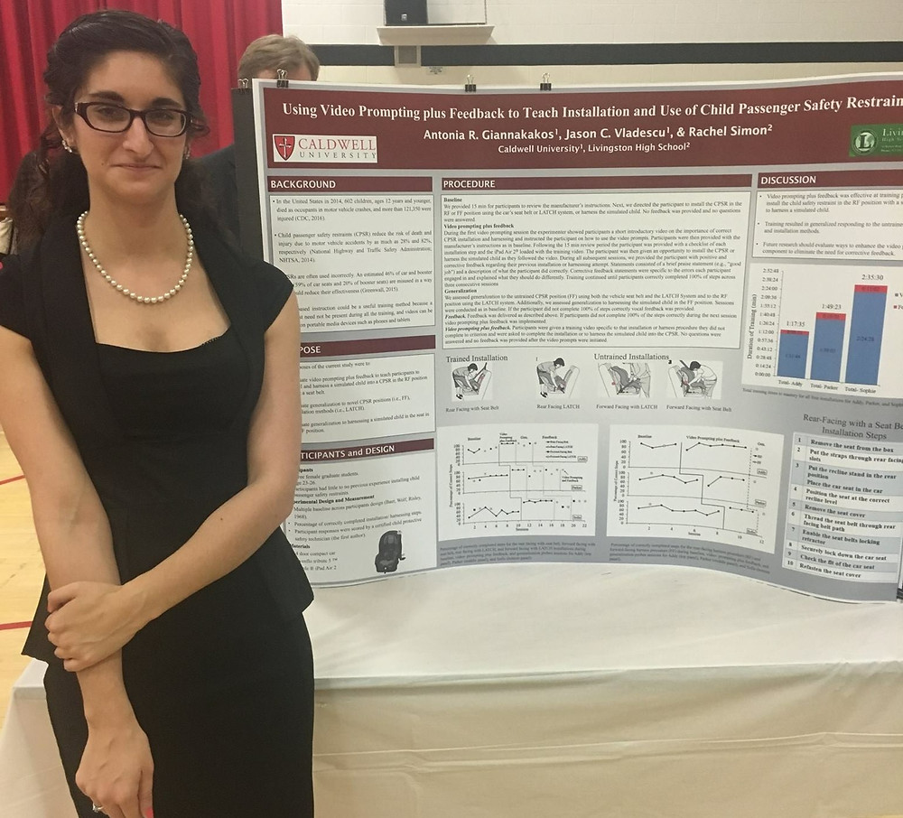 Antonia participating in the Caldwell University Research and Creative Arts Day.