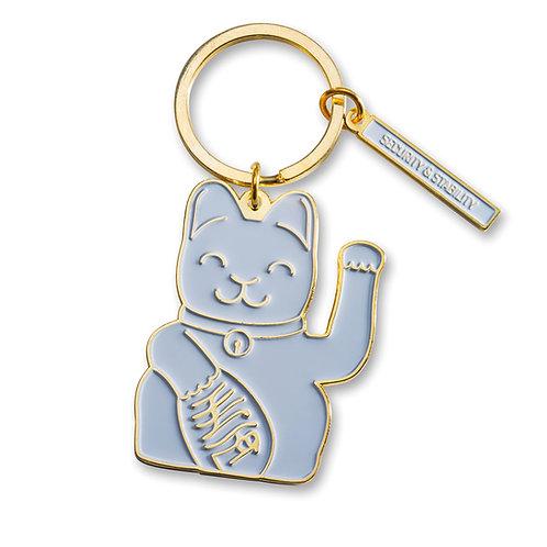 Llavero Fortune Cat Gris