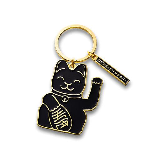 Llavero Fortune Cat Negro