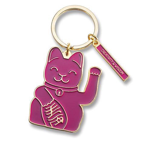 Llavero Fortune Cat Púrpura