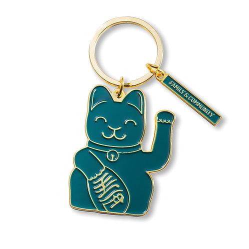 Llavero Fortune Cat Verde
