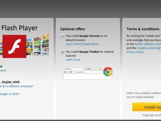 Beware Adobe Flash update !
