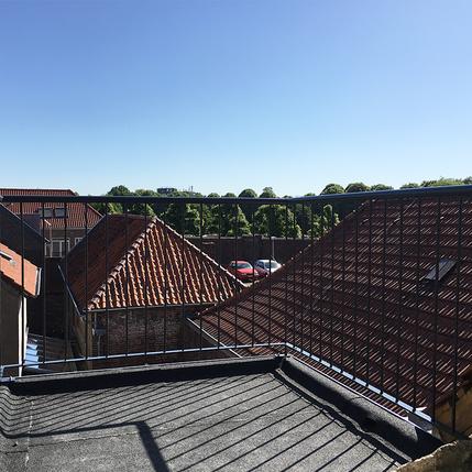 Stalen balustrade met spijlen voor balkon