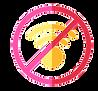 pictogramme logo wifi barré et cercle autour