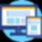 pictogramme création de site web