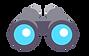 jumelles pictogramme gris