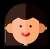 femme pictogramme brune