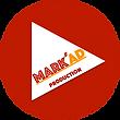 logo de la société MARK'AD Production en gris et blanc