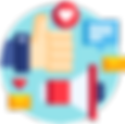 Pictogramme lancement et tests utilisateurs app mobile