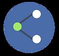 réseaux pictogramme bleu gris vert