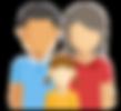 pictogramme famille homme femme enfant