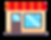 pictogramme devature de magasin avec une port et une vitrine