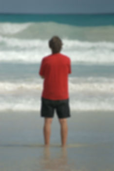 Image of Man Gazing At Ocean - Oakland Therapist Mill Valley Therapist Trauma EMDR