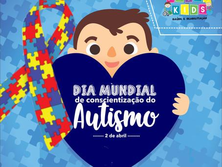 O Dia Mundial da Conscientização do Autismo é comemorado em 2 de abril. 💙